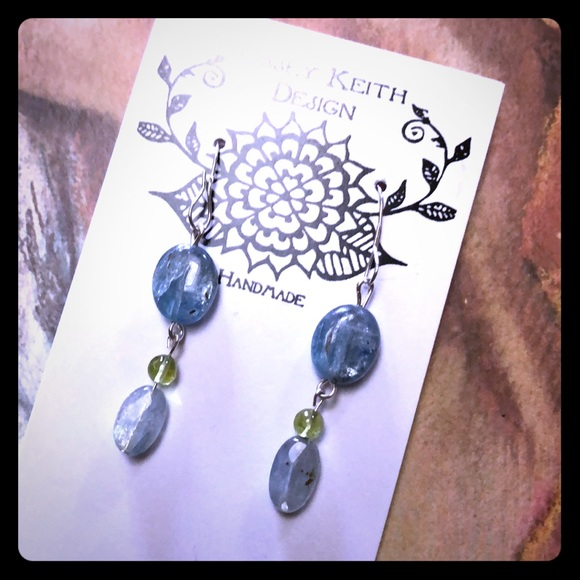 Casey Keith Design Jewelry - Kyanite & Peridot Earrings
